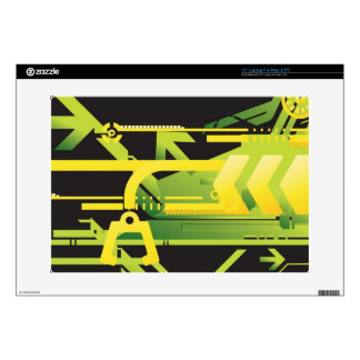 Technical halftone background 4 skin for laptop
