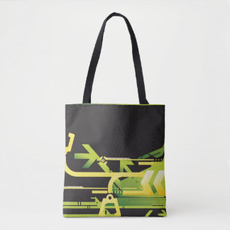 Technical halftone background 4 tote bag