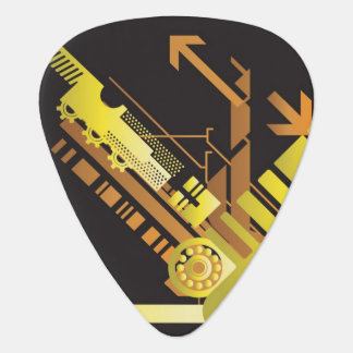 Technical halftone background 5 guitar pick