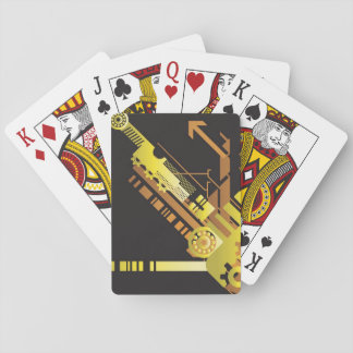 Technical halftone background 5 playing cards
