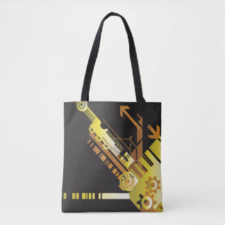 Technical halftone background 5 tote bag