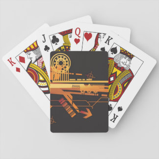 Technical halftone background 6 playing cards