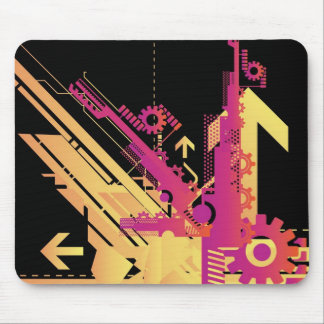 Technical halftone background 7 mouse pad