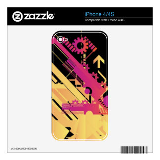 Technical halftone background 7 skins for iPhone 4S