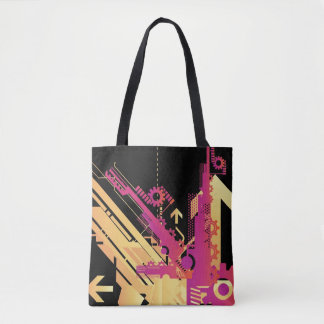 Technical halftone background 7 tote bag