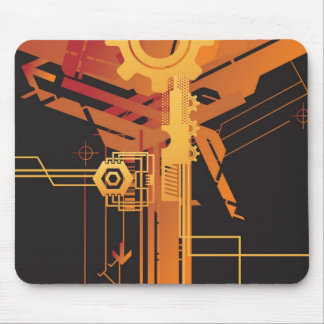 Technical halftone background mouse pad