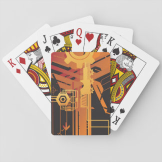 Technical halftone background playing cards