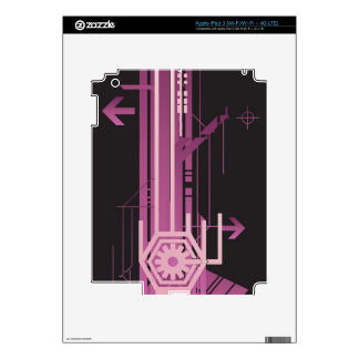 Technical halftone pattern decal for iPad 3