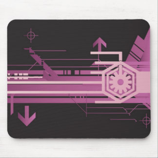 Technical halftone pattern mouse pad