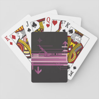 Technical halftone pattern playing cards