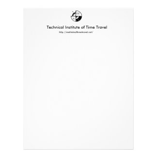Technical Institute of Time Travel Stationery Flyer
