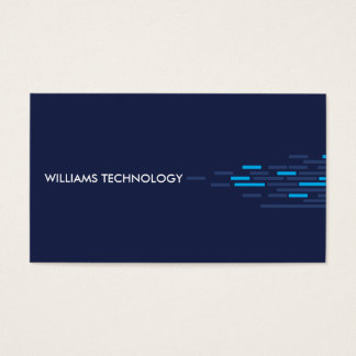 Technical Pattern in Blue Business Card