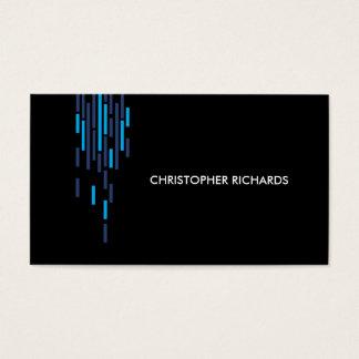 Technical Pattern in Blue on Black II Business Card