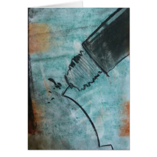 Technical Pen, by Brad Hines, pastel Notecard