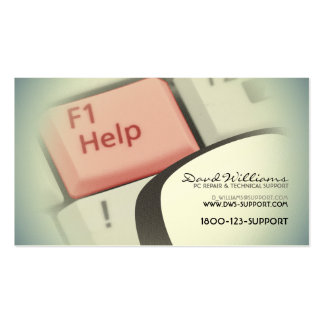 Technical Support Business Card