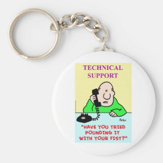 technical support pounding fist keychain