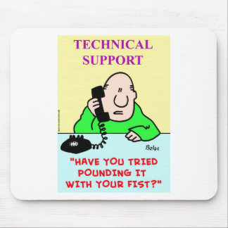 technical support pounding fist mouse pad
