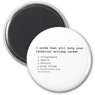Technical Writer 2 Inch Round Magnet