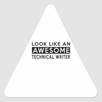 TECHNICAL WRITER DESIGNS TRIANGLE STICKER