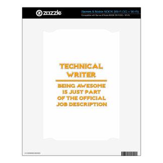 Technical Writer .. Job Description NOOK Skins