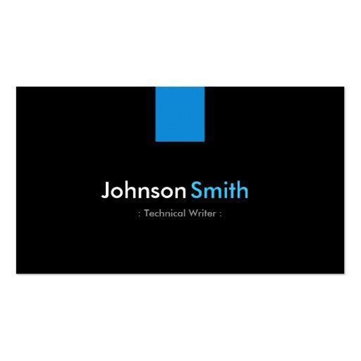 Technical Writer Modern Aqua Blue Business Card