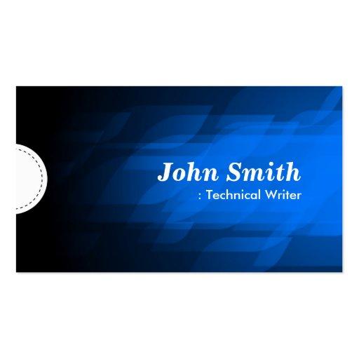 Technical Writer - Modern Dark Blue Business Card