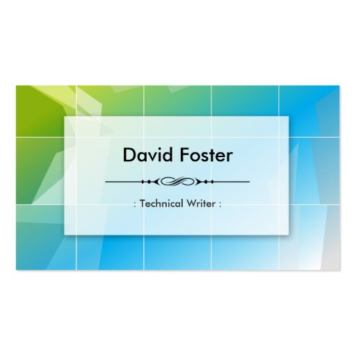 Technical Writer - Modern Elegant Simple Business Card Template