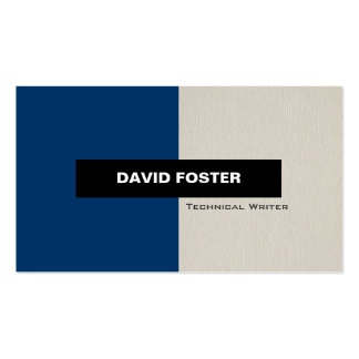 Technical Writer - Simple Elegant Stylish Business Card Template