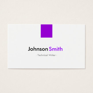 Technical Writer - Simple Purple Violet Business Card