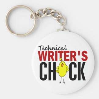 Technical Writer's Chick Keychain
