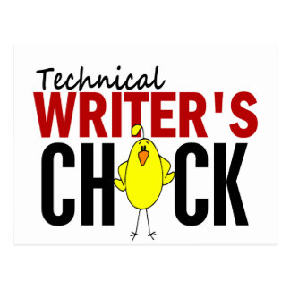 Technical Writer's Chick Postcard