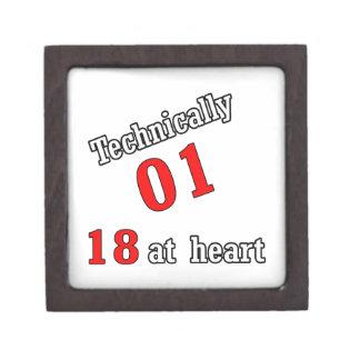Technically 01, 18 at heart jewelry box