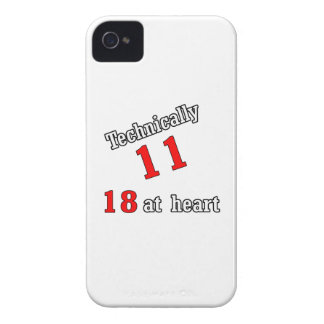 Technically 11, 18 at heart Case-Mate iPhone 4 case