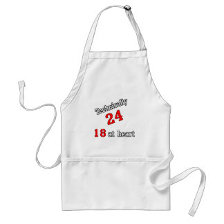 Technically 24, 18 at heart adult apron