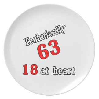 Technically 63, 18 at heart melamine plate