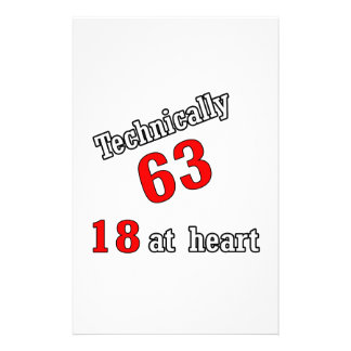Technically 63, 18 at heart stationery