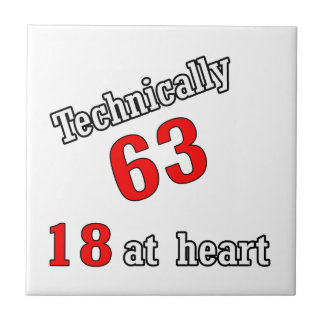 Technically 63, 18 at heart tile