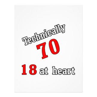 Technically 70, 18 at heart letterhead