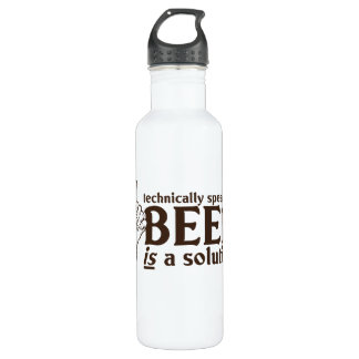 Technically Speaking, Beer is a solution 24oz Water Bottle