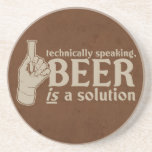 technically speaking, beer is a solution drink coasters