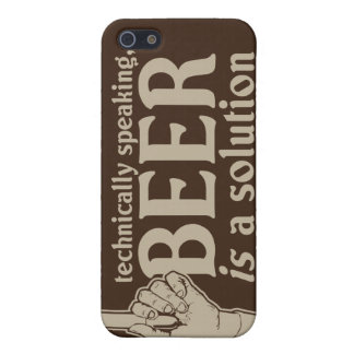 technically speaking, beer is a solution iPhone SE/5/5s cover