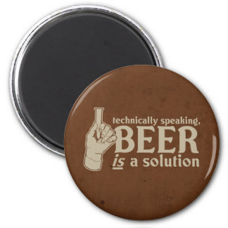 technically speaking, beer is a solution magnets