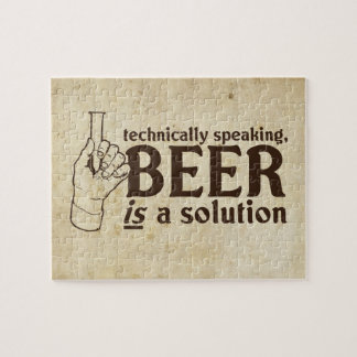 Technically Speaking, Beer is a solution Puzzles