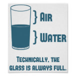 Technically The Glass Is Always Full Poster