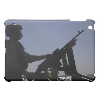 Technician manning an M240 machine gun in Iraq iPad Mini Cover