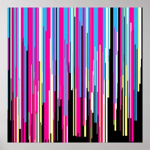 Technicolor Abstract Design Print