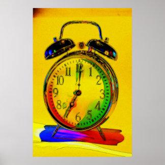 Technicolor Alarm Clock Poster