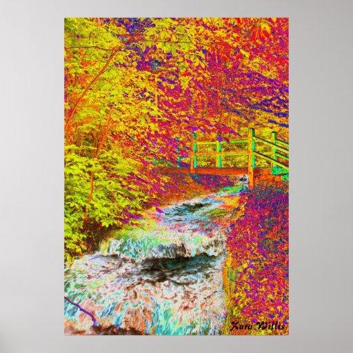 Technicolor Bridge Print