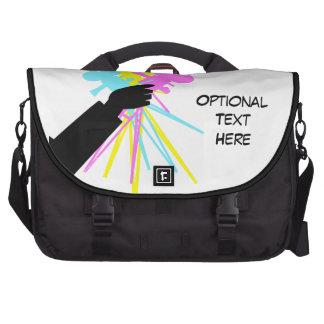 Technicolor Camera Love Bouquet Custom Laptop Bag