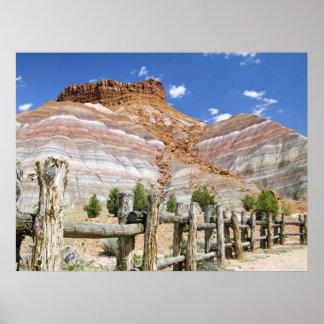 Technicolor Cliffs of Paria, Utah Print